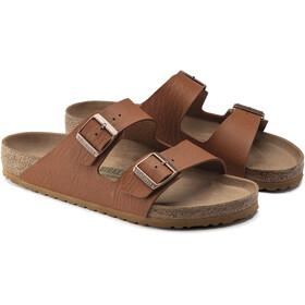 Birkenstock Arizona Sandals Birko-Flor Saddle Matt Vegan Regular Men, ginger brown